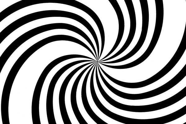black and white spiral: black and white spiral - zoom in and out of this photo and you will see the spiral go round...