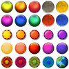Web Buttons: A set of 25 colorful web buttons. Visit me at Dreamstime: 