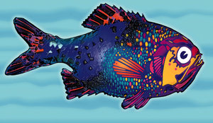 Fish 2: A variation of my colored fish. Visit me at Dreamstime: 