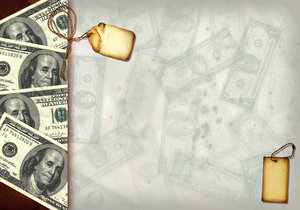Money Collage 9: Variations on a vintage money collage.