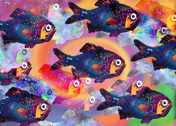 Fish Dream: Computer Generated Painting.Please visit my stockxpert gallery:http://www.stockxpert.com ..