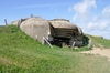Bunker 1: Remains of a German bunker of World War II at Longues-sur-Mer, Normandy, France