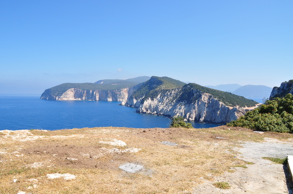 Lefkatas Doukato 1: Wild coast of Greek island Lefkada and its southest part Cape Lefkatas