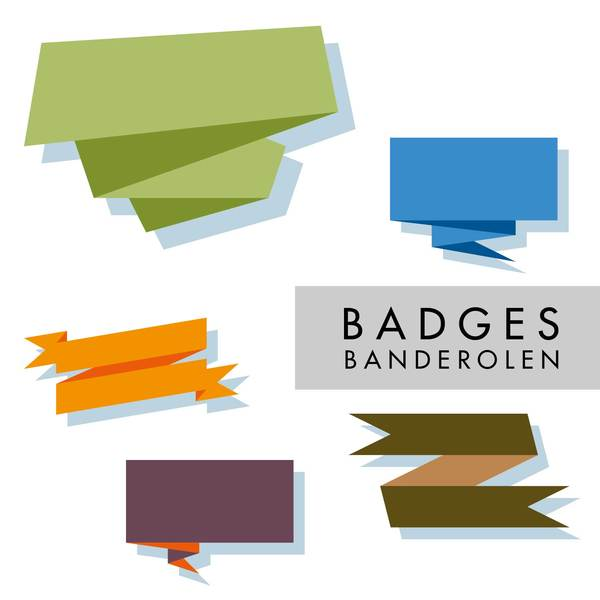 Free badges illustration: A small set of badges.