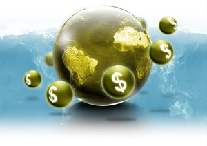 World wide wealth: Stock image for business concepts