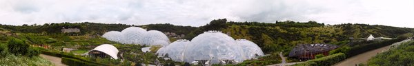 Eden Project: Panoramic View of the Eden Project in Cornwall