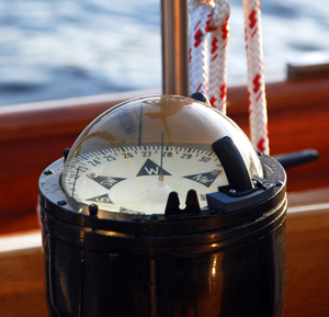Compass: Compass on sailing Yacht