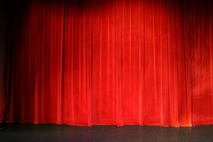 Show Time: Red Theatre Curtain