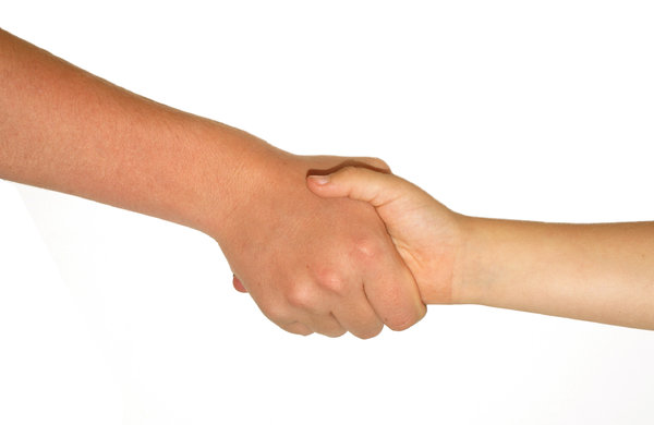 Shaking Hands: My children,son and daughter, shaking hands, used for a buddy program for school age kids. Comments Welcome :)