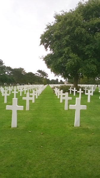Heroes for ever: American Military Cemetry at Colleville-sur-Mer, Normandy, France