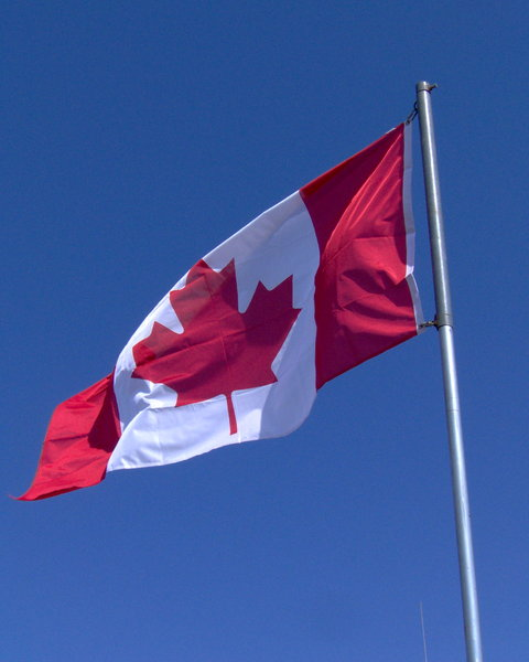 Canadian Flag: I can't believe I got this shot at the exact moment I did. Makes me want to shout out our anthem O'Canada.
