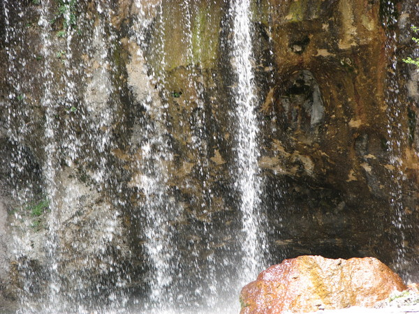 Waterfall Closeup: Closeup of waterfall at Hanging Lake in Colorado