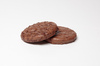 Belgian Chocolate cookie: A close-up picture of a Belgian chocolate cookie on a white background