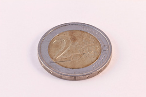 Euro money piece: A picture of Euro money. This picture can be used for a wide variety of subjects.