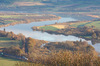 River Tay from Kinnoul: View of the River Tay from Kinnoul Hill in autumn light