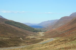 Highland view: View of Loch Maree, Scotland, from above Kinlochewe