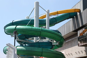 Flumes! 3: Water slides at a swimming pool