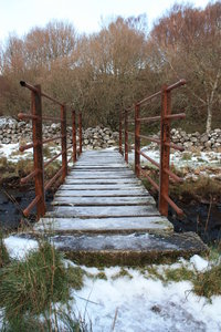 Winter bridge 2: A small bridge in winter