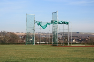 Throwing cage: Athletics throwing events cage
