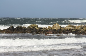 Waves: Stormy waves near a Scottish Highland shore