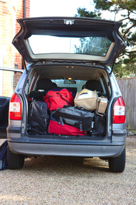 Car boot full of luggage: Car boot full of luggage, ready for a holiday!