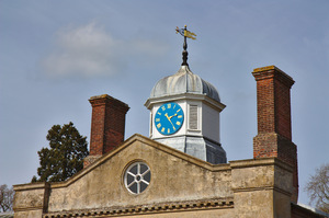 Clock tower: Clock tower on the roof of an English Country House