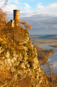 Folly on Kinnoul Hill: Folly, or fake castle/tower, on Kinnoul Hill above Perth, Scotland