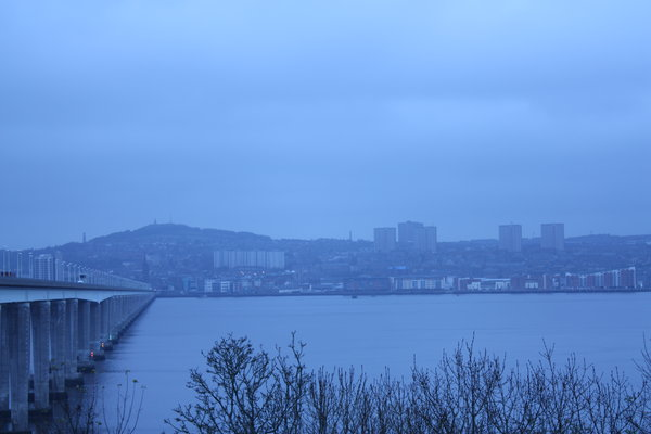 Blue city: A blue cast image of Dundee