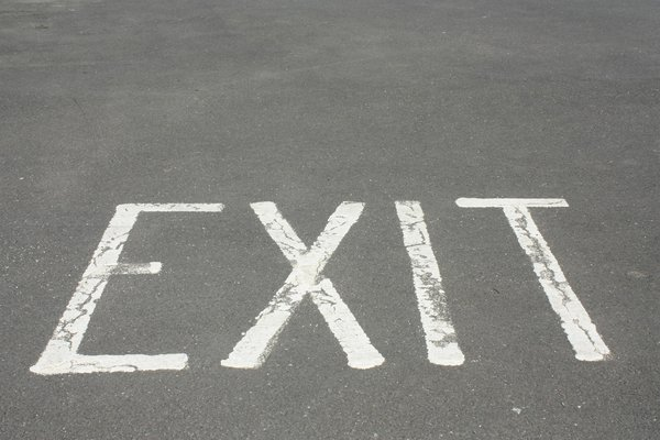 Exit: Exit text from a carpark