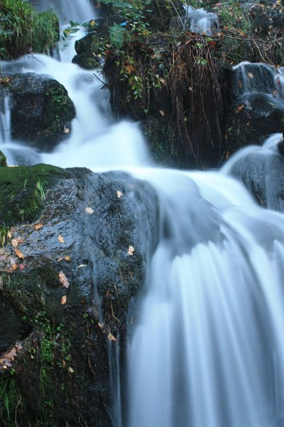 Waterfall: Smoothed shot of waterfall on long-exposure