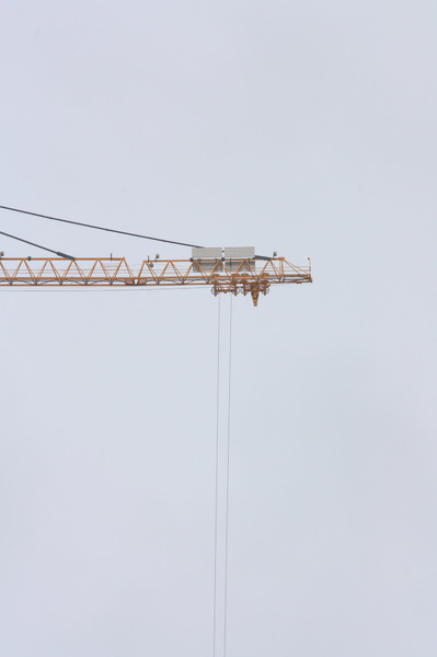 Bridge Construction Crane: Crane being used as part of the construction of the Forth replacement crossing bridge in Scotland (Queensferry Crossing)