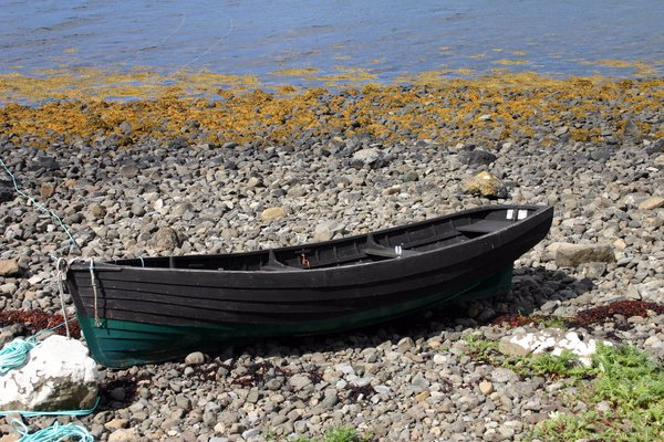 The Skye Boat: A old rowing boat on the shores of Skye