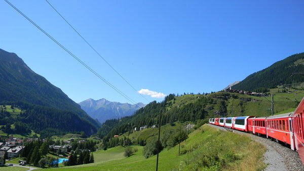Glacier Express: Some shots of the Glacier Express from Zermatt to St. Moritz, in Switzerland.
