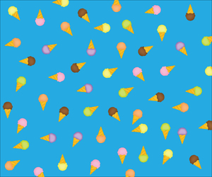 yummy icecream 1: blue ice cream background