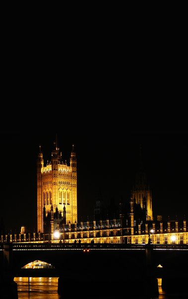 parliament by night: London Parliament