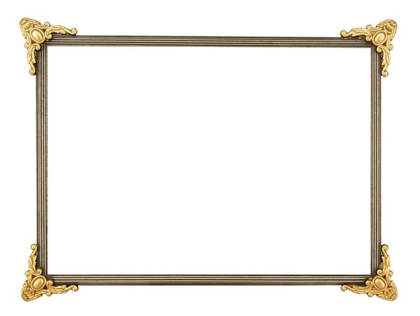 Gold Corners Metal Frame: One of a series of picture frames.