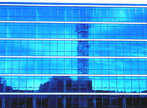 mirror: This is one of the palaces of Telecom Italia, one of most major Italian telecommunication companies.