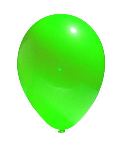 RGB balloon 2: A simple image of a balloon isolated from the background. In three different hues: red, green and blue.