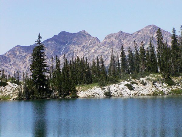 Red Pine Lake: A scenic lake in the Wasatch mountains near Salt Lake City.