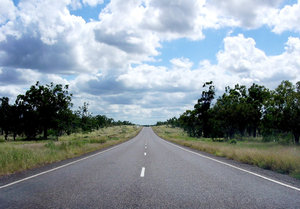 Open Road 2: Open road driving north in a remote area of Queensland. Seeing as I was actually driving at the time thereby risking life and limb to take these photos, I'd be grateful if you could rate them and leave a comment.(The things one does for a good photo...)