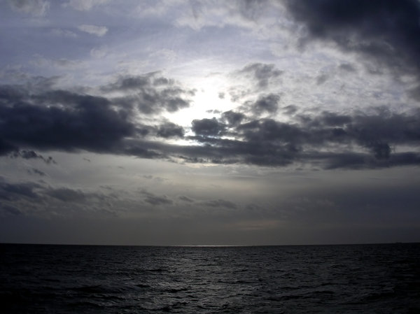 Dark Sky & Sea: Taken while on the ferry from France to the UK.