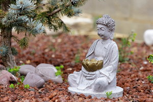 Zen Garden: Little Buddah in a small garden