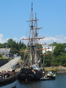 Tall Ships at Charstown, UK: Tall Ships at Charstown, Cornwall, UK