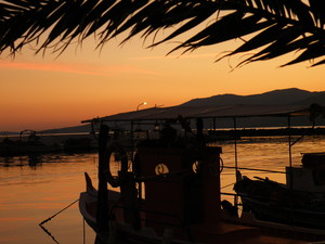 Island Harbour Sunset: Skala Kalloni harbour