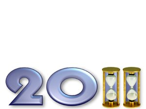New Year 2011: Backgrounds with lots of free space. Can be used as PowerPOint templates.
