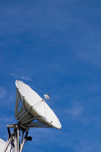 Satellite Dish 5: A satellite dish on the roof of a television studio.
