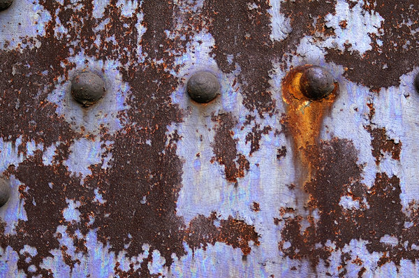 Rivets and rust 2: Rivets and rust on a bridge in Cleveland, Ohio.