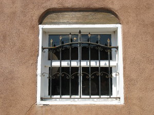 southwest window: a window in old town, albuquerque.