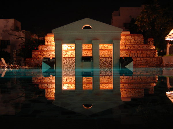 Temple in Agadir, Morocco: A swimming pool in a holiday club in Agadir, Morocco. RATE THIS PIC IF YA DOWNLOAD IT, THANKS !