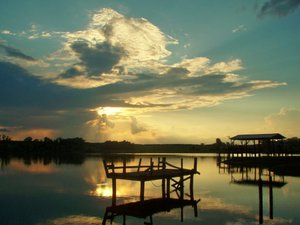 Alabama Country Dreams: L-Pond at sunset